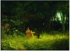 Children in the forest, by Ivan Kramskoy, 1887