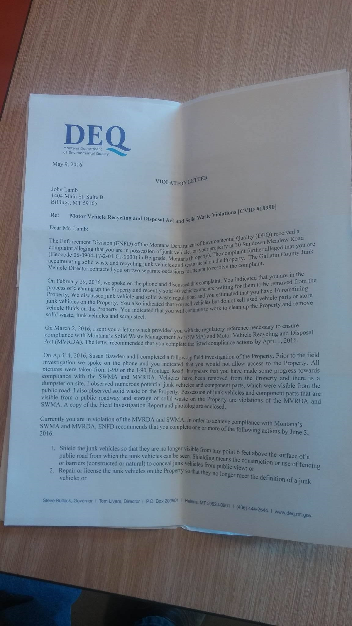 John Power Property Tax Return
