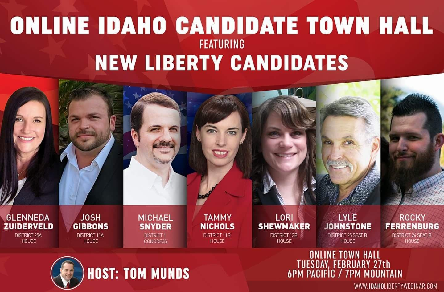 Stream Patriots Day Idaho Liberty Townhall Online Candidate Forum Redoubt News