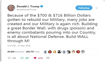 Donald J. Trump, Omnibus, and the WALL