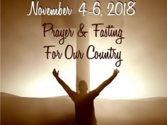 Prayer And Fasting For Our Country