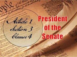 Founders / Framers Minute: Article 1, Section 3, Clause 4