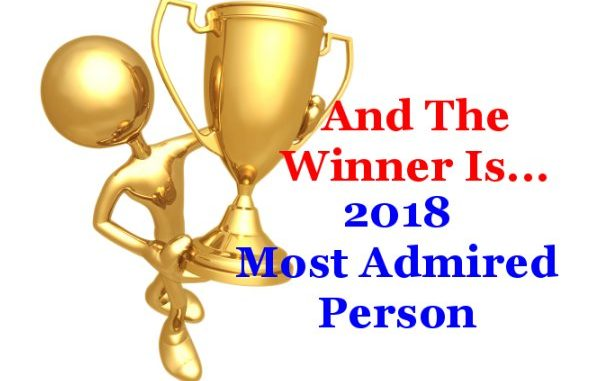Most Admired Person for 2018 - Christy Zito