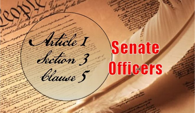 Founders / Framers Minute: Article 1, Section 3, Clause 5