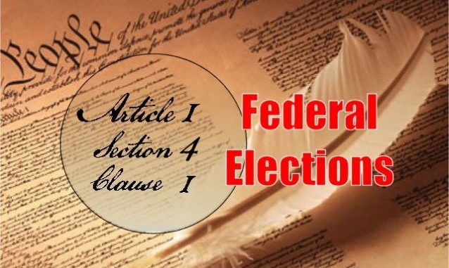 Founders / Framers: Article 1, Section 4, Clause 1