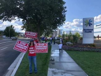 Protest at Kootenai Health in Coeur d'Alene