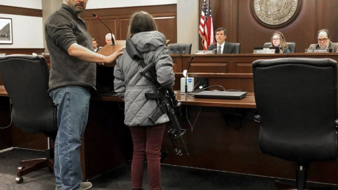 Young Girl Carries AR-15 Into Statehouse