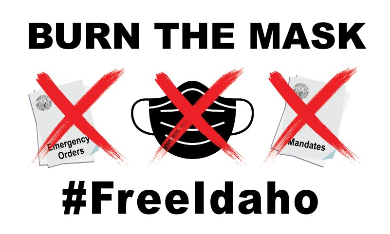 Mask Burn Rally #FreeIdaho