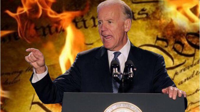 Biden Praised For Ignoring Constitution